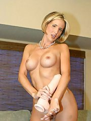 Lovely blonde housewife Desirae Spencer shows off her superb hot body in very expensive