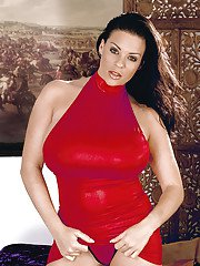 Huge boobs of Linsey Dawn McKenzie shown and played with.