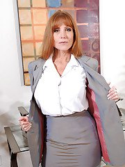 Darla Crane always dresses up slutty for her office work hours. This time she goes