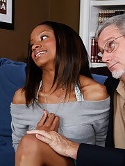 Black college fucking with Riyanna Skie and nasty old grandpa