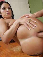 Luscious latin wife Monica Santiago getting her butthole drilled hard