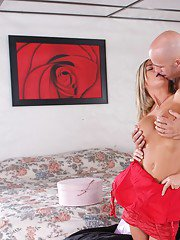 Lascivious wife Mckenzee Miles has her tight pussy gaping after sex