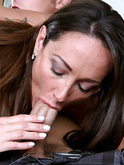 Hot MILF with tiny tits Michelle Lay scoring a hard cock in her cunt