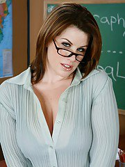 Delightsome MILF teacher Lisa Sparxxx showing off plump ass and boobs