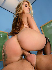 Fat teacher Joclyn Stone gets her hairy mature pussy fucked hard
