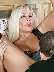 Fat mature Claire LaFemmeDC gets her heated pussy drilled in the bar