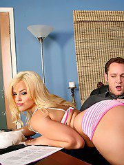 Big titted office secretary Alexis Texas stripped and fucked by her boss