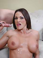 Fit MILF with round boobs Kristine Madison impaled on cock and fucked