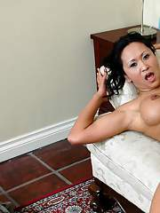 Asian mature Kitty Langdon gets her brown pussy fucked hardcore