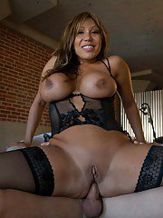 Busty asian mature in sexy lingerie Ava Devine takes anal banging