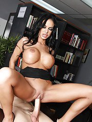 Hot teacher with gorgeous boobs Angelina Valentine fucked by student
