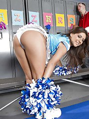 Sexy cheerleader Jynx Maze got her ripe latin booty banged hardcore