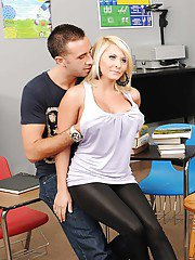 College babe with big tits Madison Ivy drilled hardcore on the desk