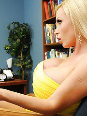 Fabulous teens with big tits Rachel Starr and Nikki Benz have groupsex