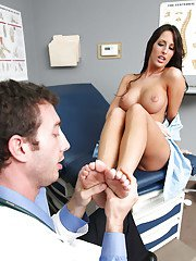Gorgeous Kortney Kane with big tits and sexy ass fucks with her doctor