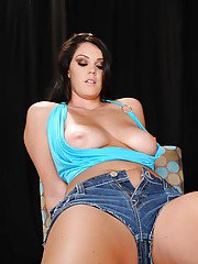 Pornstar Alison Tyler with big tits is fucked hardcore with her boots on