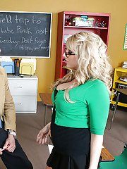 Fatty Heather Summers with big tits is a perfect lusty schoolgirl