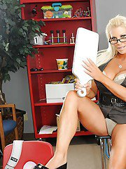 Lesbian MILF teacher and naughty school girl kissing and stripping