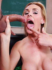 Gorgeous MILF teacher with big tits Tanya Tate got her wet cunt fucked