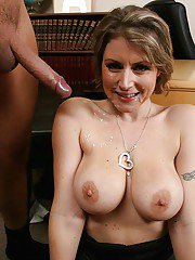 Hot office MILF Velicity Von with big tits has her hairy pussy fucked