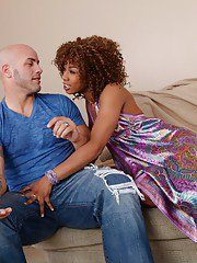 Ebony wife Misty Stone is riding a cock to have cum on her cunt