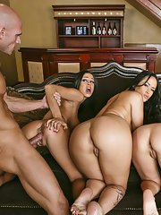 Sienna West Carmella Bing and Angelina Valentine have a hardcore orgy