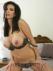 Big titted MILF wife in lingerie Shay Sights fingering her gloryhole