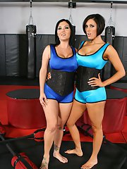 MILF babes Dylan Ryder and Claire Dames touch each other naked