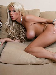 Hot wife with big tits Tanya James stripping and posing solo