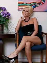 MILF Tanya James and Brandi Edwards strip naked in the office