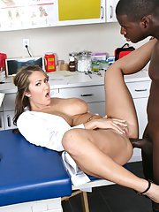 Slutty doctor Trina Michaels has wild interracial sex on public