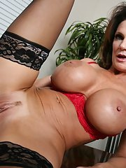 Mature Deauxma with big tits has hardcore sex in the office