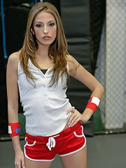 Pornstar with a stunning body Jenna Haze plays sports and gets naked