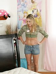 Cute teen with tiny tits Kelly Skyline craving for hardcore fucking