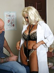 Sexy office MILF in uniform Britney ONeil strips to get a big cock