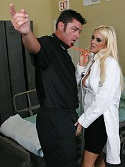 Big titted MILF Rhyse Richards fucking hardcore in the hospital