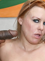 Busty MILF Jaylyn Rose drenched in cum after hot interracial banging
