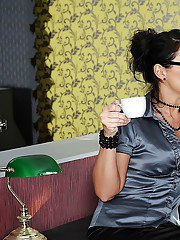 Naughty office secretaries Maria Bellucci amp Mandy Bright toying butts