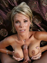 Stunning MILF Kayla Synz got her tight hole fucked by a fat cock