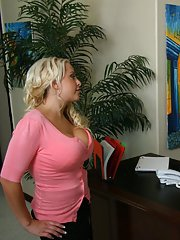 Busty MILFs Sunny Lane amp Savanah Gold in a fervent office threesome