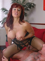 Mature Latina Sexy Vanessa has her cunt fucked with a huge dick