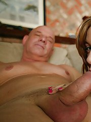 Teen cutie Nicole Ray is stripping to get fucked by an oldmans cock