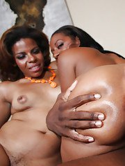 Black babes Kim and Ms.Juicy sucking a meaty dick and have groupsex