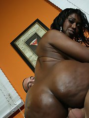 Black MILF babe Delotta Brown fucking with toys and a big cock