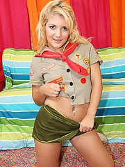 Teen babe Jamie Lamore takes off uniform to show her youthful body