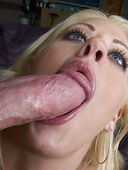 Ball licking blowjob and anal sex with hardcore milf Holly Heart