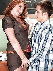 Mature teacher Stacie King getting fucked hardcore by a stud