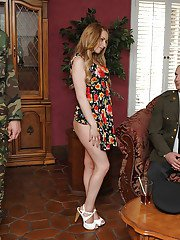 Hot wife Lexi Belle cheating on her hubby with a stiff dick