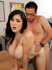 Lusty MILF Beverly Paige takes off her clothes to get fucked in office
