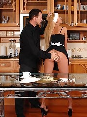Sexy babe in uniform Zorah White gets fetish punished and spanked